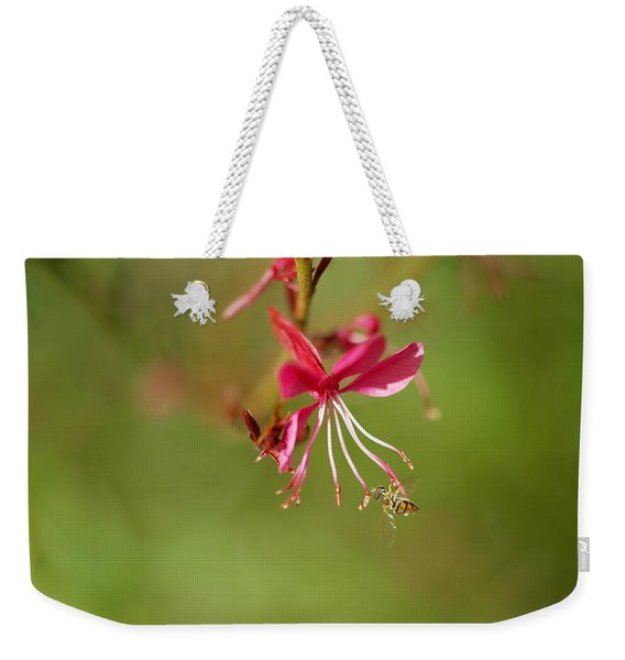 Little Bug On The Tip Of A Flower Weekender Tote Bag