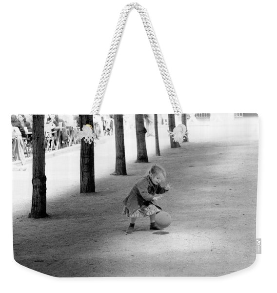 Little Girl With Ball Paris Weekender Tote Bag