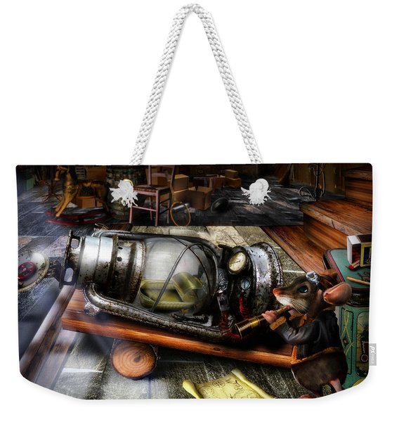 Little Mouse And The Moon Weekender Tote Bag