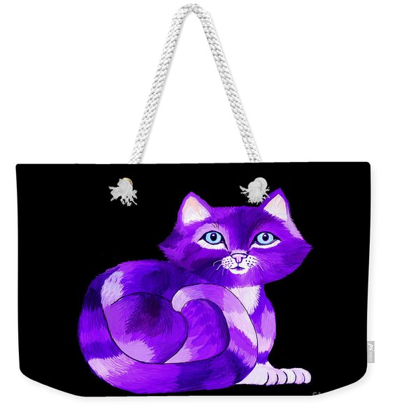 Little Purple Cat Weekender Tote Bag