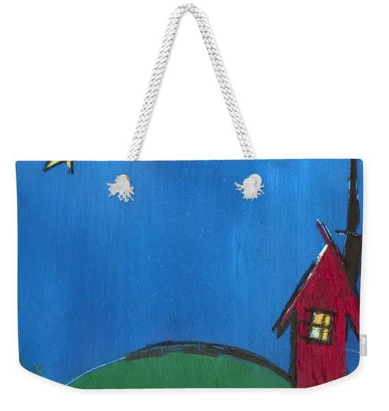 Little Red House Weekender Tote Bag