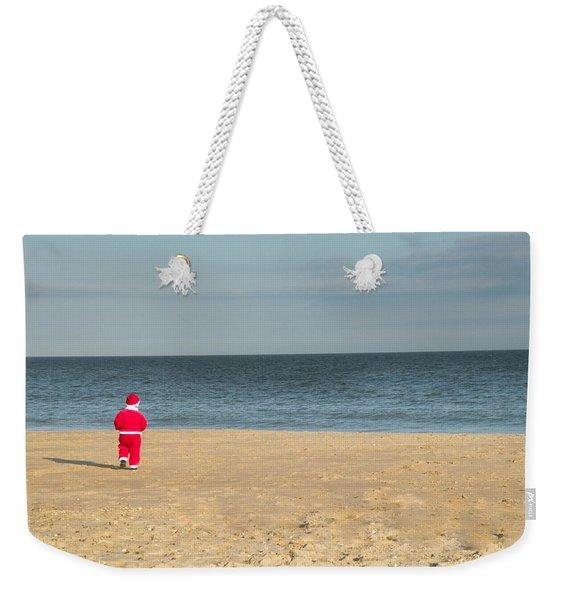 Little Santa On The Beach Weekender Tote Bag
