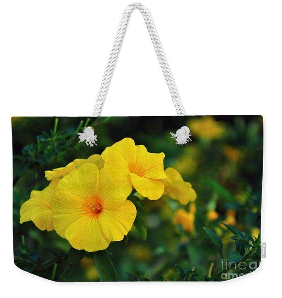 Little Yellow Trumpets Weekender Tote Bag