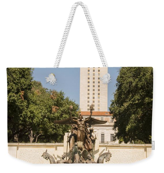 Littlefield Fountain And University Of Texas Tower Weekender Tote Bag