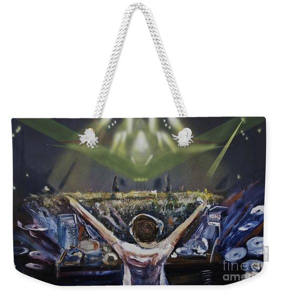 Live Dj Weekender Tote Bag