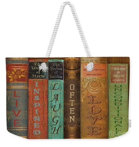 Live-laugh-love-books Weekender Tote Bag