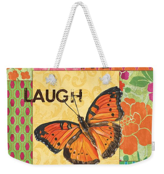 Live Laugh Love Patch Weekender Tote Bag