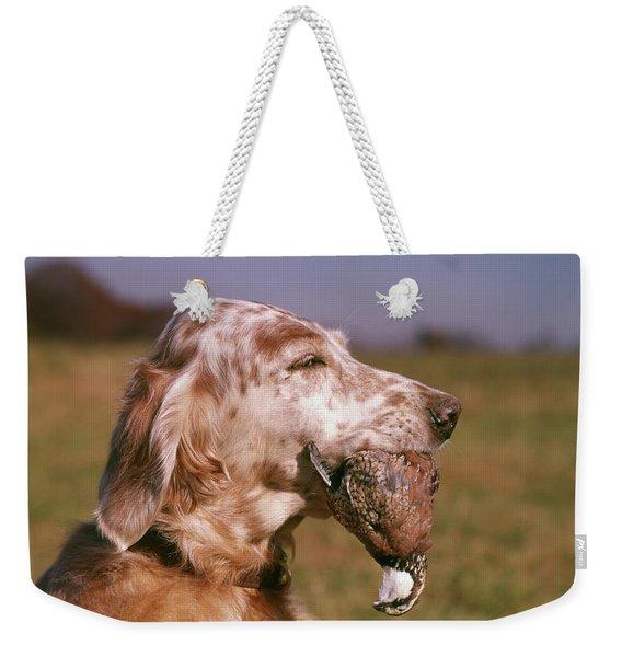 Liver Belton English Setter Dog Head Weekender Tote Bag