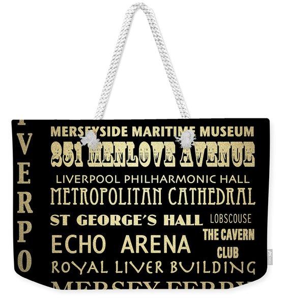 Liverpool England Famous Landmarks Weekender Tote Bag
