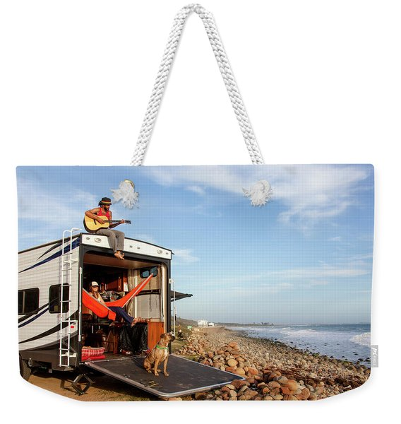 Living The Travels Dream Weekender Tote Bag