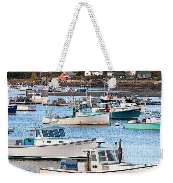 Lobster Boats In Bass Harbor I Weekender Tote Bag