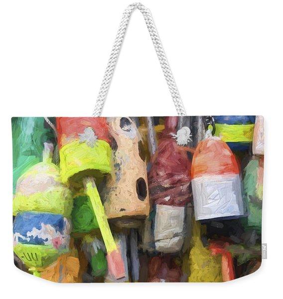 Lobster Buoys Painterly Effect Weekender Tote Bag