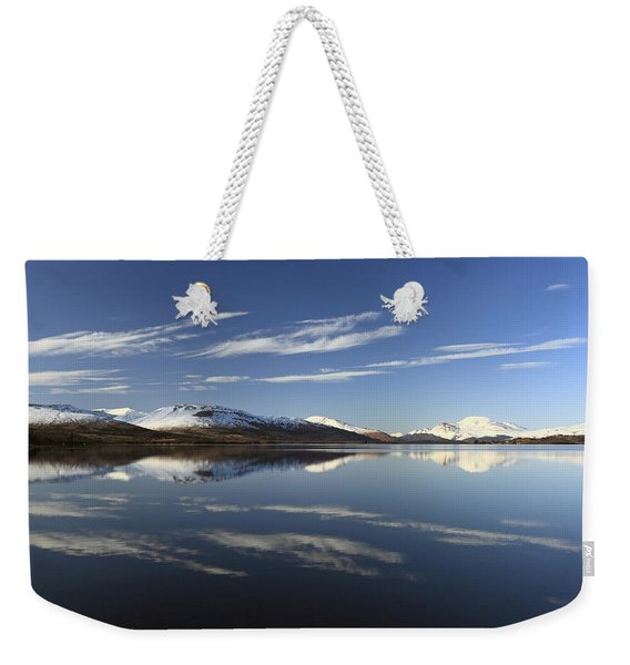 Loch Lomond Reflection Weekender Tote Bag