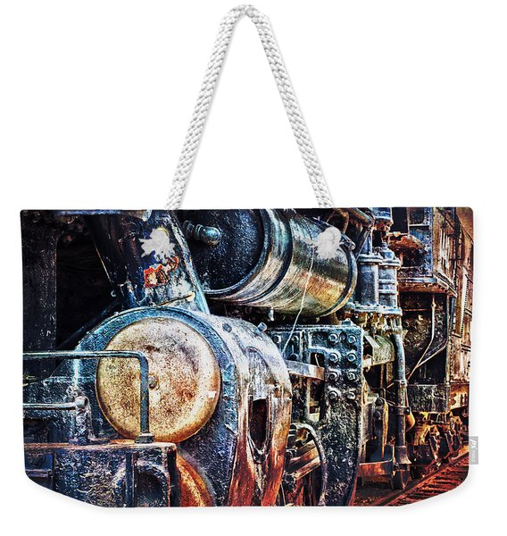Weekender Tote Bag featuring the photograph Locomotive by Gunter Nezhoda