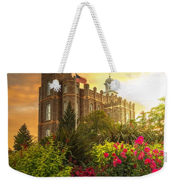 Logan Temple Garden Weekender Tote Bag