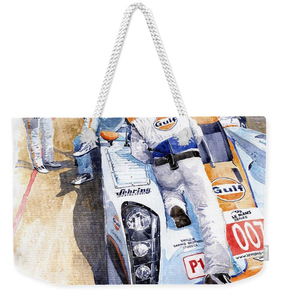 Lola Aston Martin Lmp1 Gulf Team 2009 Weekender Tote Bag