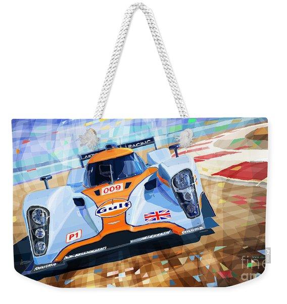 Lola Aston Martin Lmp1 Racing Le Mans Series 2009 Weekender Tote Bag