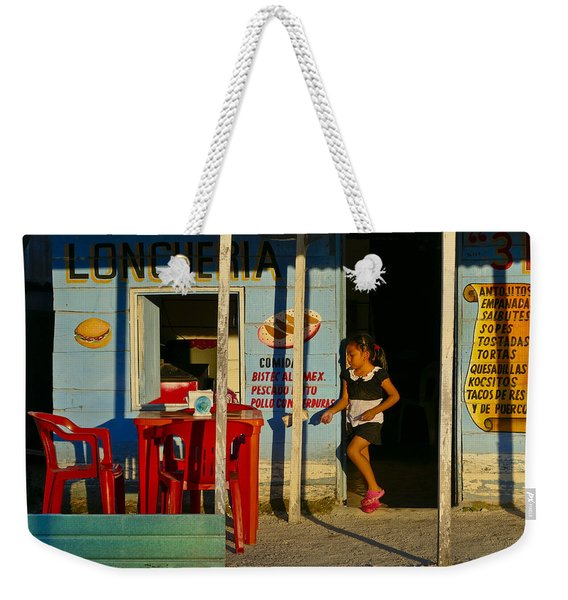 Weekender Tote Bag featuring the photograph Loncheria by Skip Hunt
