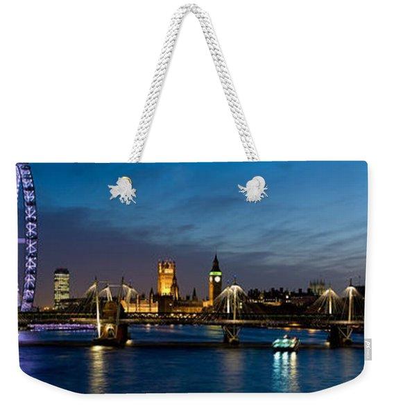London Eye And Central London Skyline Weekender Tote Bag