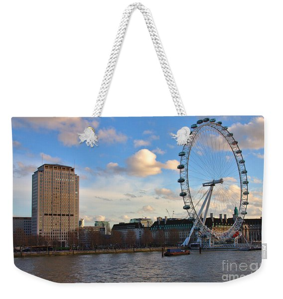 London Eye And Shell Building Weekender Tote Bag
