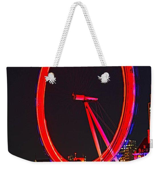 London Eye Red Weekender Tote Bag