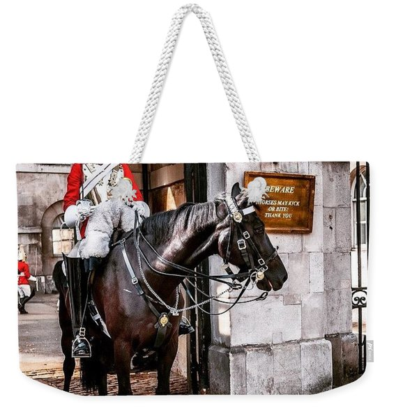 London, Palace Guard Weekender Tote Bag