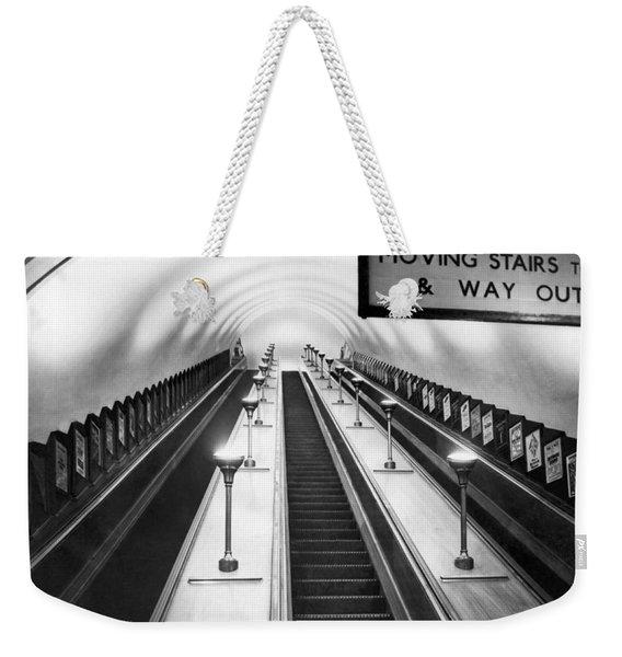 London Subway Escalators Weekender Tote Bag