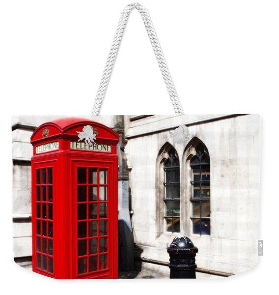 London Telephone Box Weekender Tote Bag