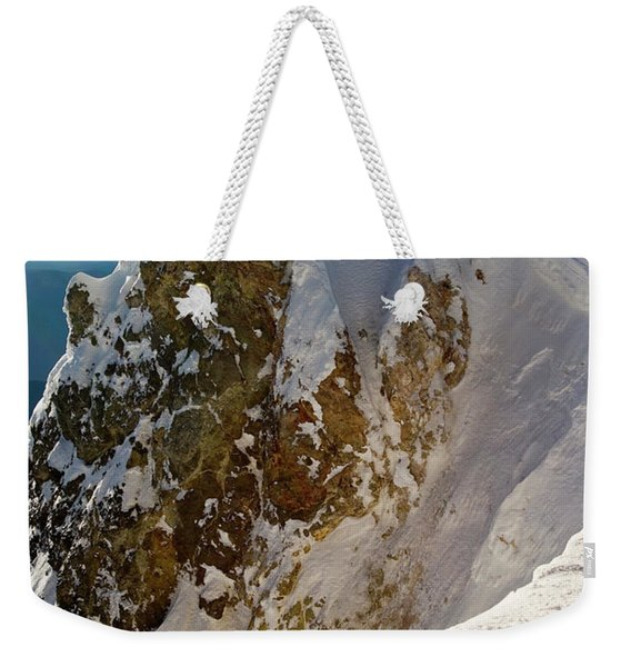 Lone Climber Approaches The Summit Weekender Tote Bag