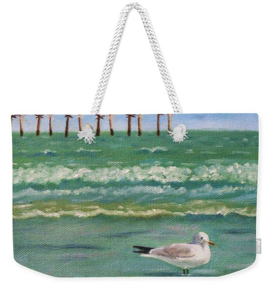 Lone Gull A-piers Weekender Tote Bag