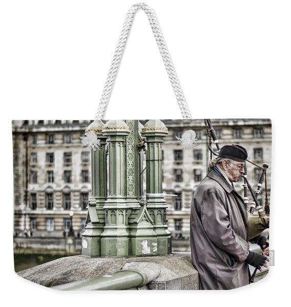 Lone Piper Weekender Tote Bag
