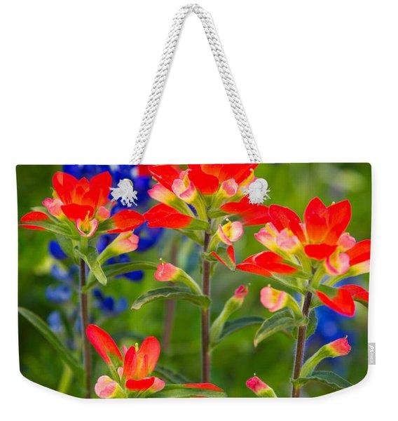 Lone Star Blooms Weekender Tote Bag