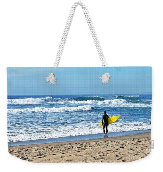 Lone Surfer Weekender Tote Bag