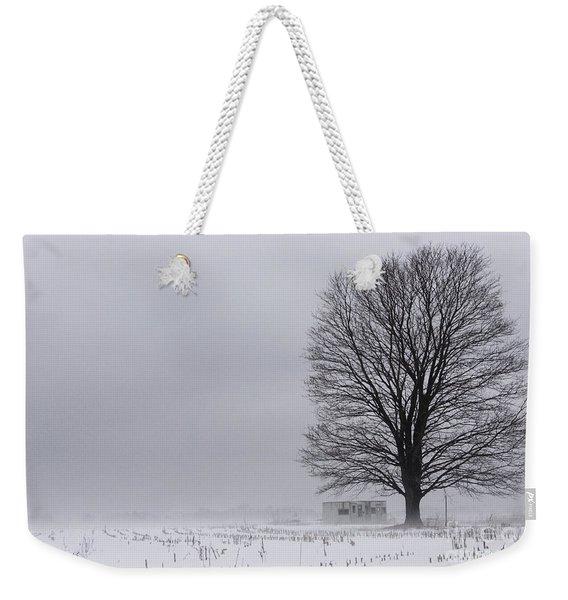 Lone Tree In The Fog Weekender Tote Bag