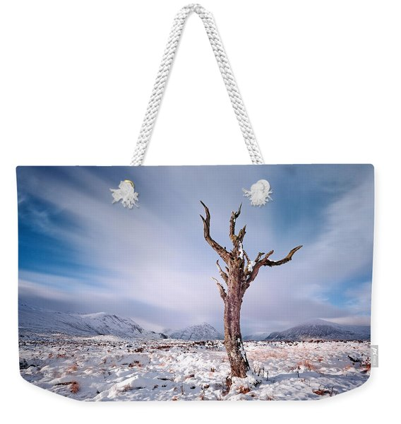 Lone Tree In The Snow Weekender Tote Bag