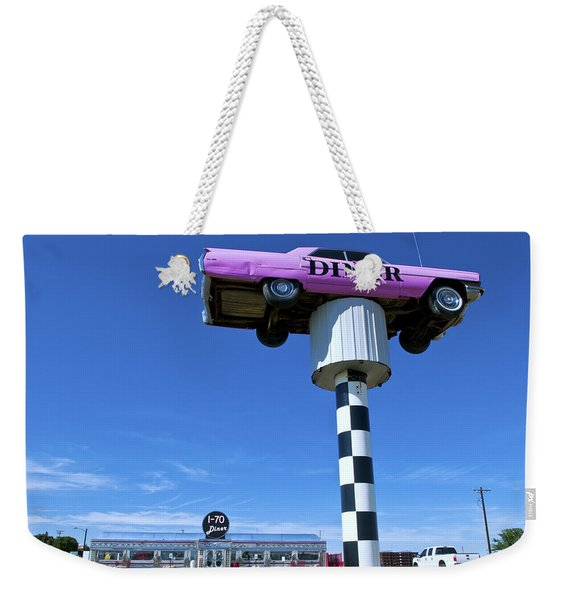 Lonely Diner With Pink Cadillac Weekender Tote Bag