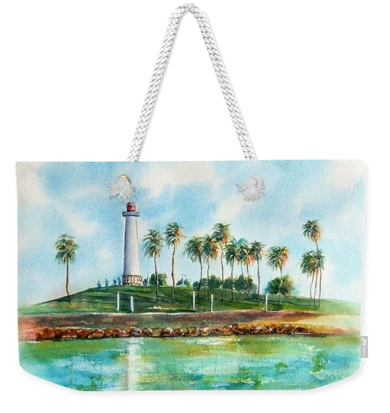 Long Beach Lighthouse  Version 2 Weekender Tote Bag
