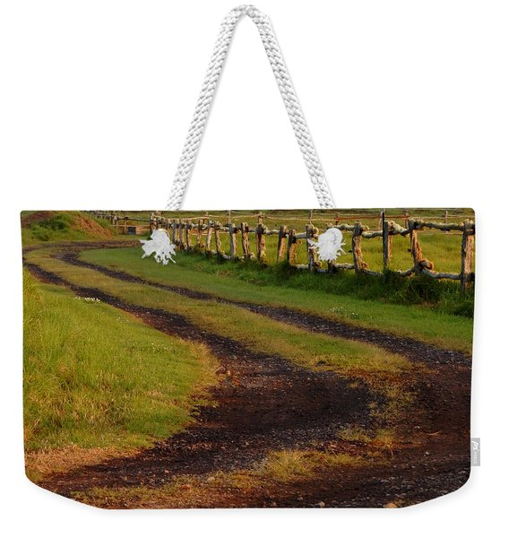 Long Dirt Road Weekender Tote Bag