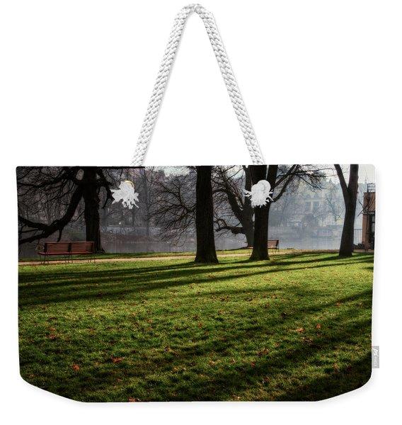Long Winter Shadows Weekender Tote Bag