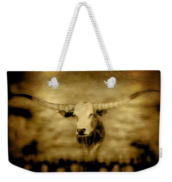 Longhorn Bull Weekender Tote Bag