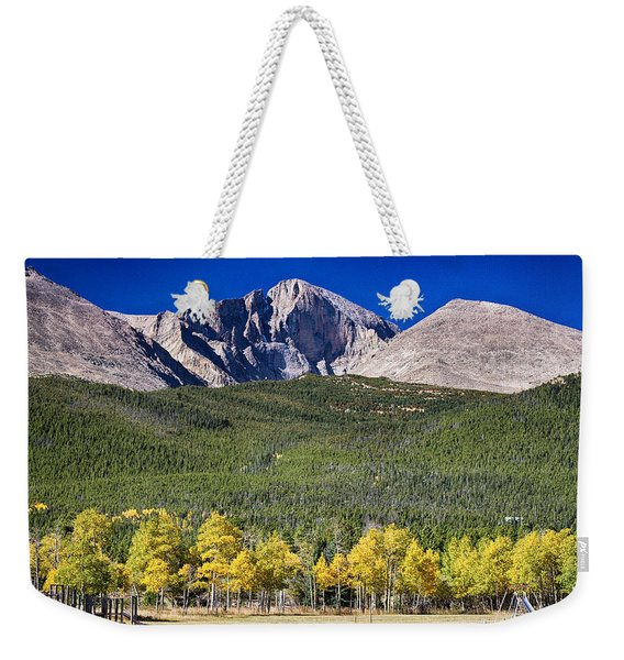 Longs Peak A Colorado Playground Weekender Tote Bag