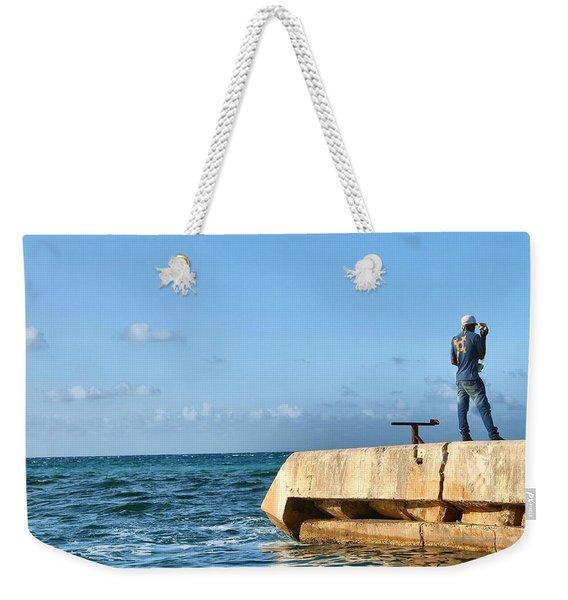 Looking Out To Sea Weekender Tote Bag