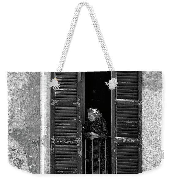 Looking Outside Weekender Tote Bag