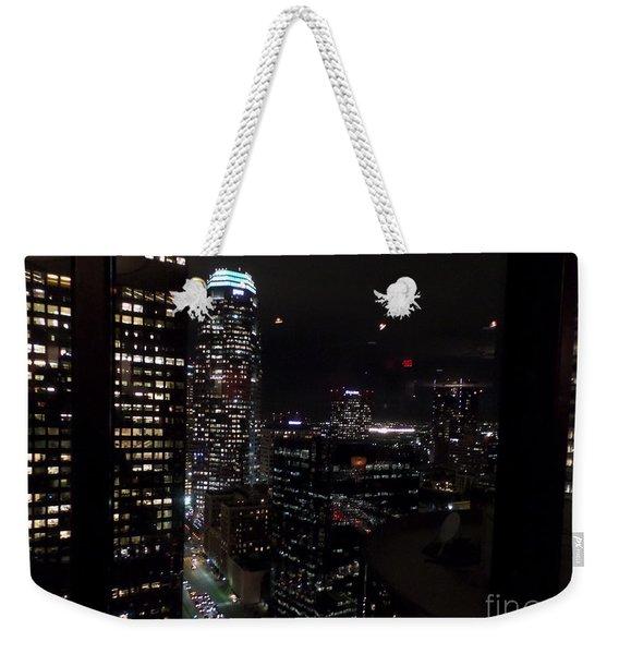 Los Angeles Nightscape Weekender Tote Bag