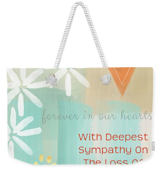 Loss Of Beloved Pet Card Weekender Tote Bag