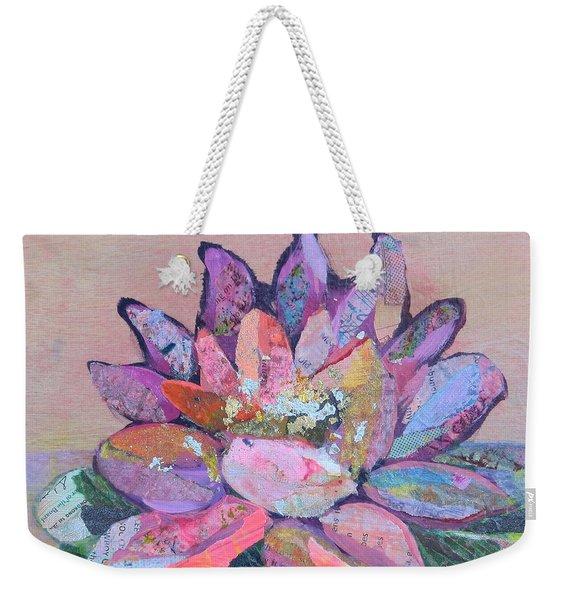 Lotus V Weekender Tote Bag
