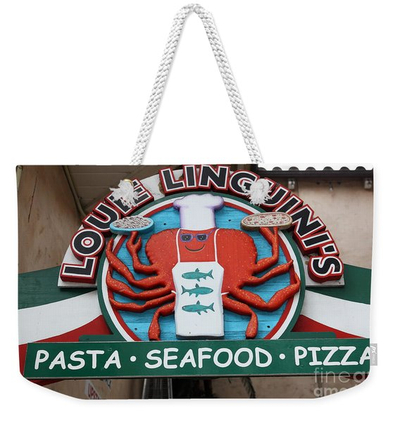 Louie Linguinis On Monterey Cannery Row California 5d24772 Weekender Tote Bag