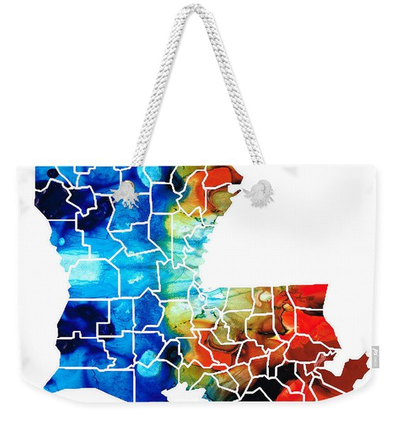 Louisiana Map - State Maps By Sharon Cummings Weekender Tote Bag