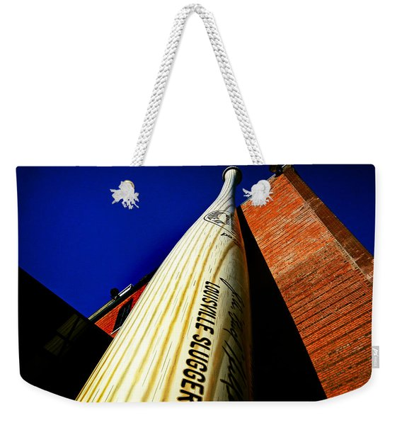 Weekender Tote Bag featuring the photograph Louisville Slugger Bat Factory Museum by Bill Swartwout Photography