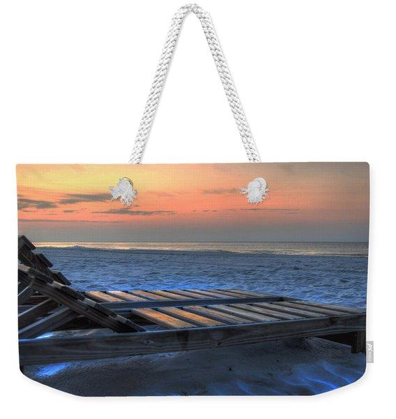 Lounge Closeup On Beach ... Weekender Tote Bag
